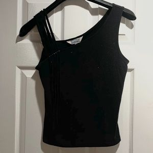 Black Tanktop with Detailed Strap